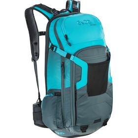 EVOC FR Trail Protector Backpack 20l Slate/Neon Blue
